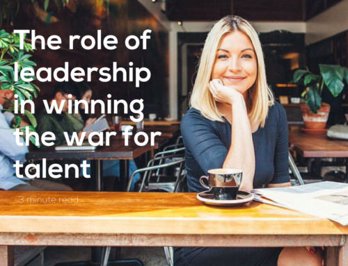 The role of leadership in winning the war for talent – a 3-minute read.